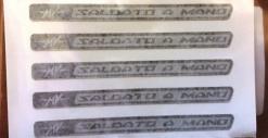 "8000B4203 DECAL ""MV SALDATO A MANO"""